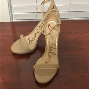 Sam Edelman Nude Patent Heel Sandal